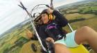 Тандемен полет с двуместен моторен парапланер  близо до София от клуб Вертикал Дименшън