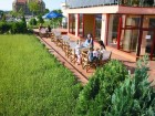 Нощувка на човек със закуска, обяд и вечеря + 2 басейна и джакузи в хотел Роза, Черноморец