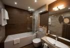 Уикенд в Банско! Нощувка на човек със закуска или закуска и вечеря + басейн и релакс зона в хотел резиденс Амира*****