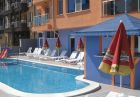 Нощувка на човек със закуска, обяд и вечеря + отопляем басейн в хотел Дара***, Приморско