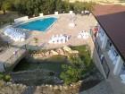 Нощувка за 4 или до 10+14 човека + басейн, ресторант и барбекю в къща Белисима край Хасково - с. Брястово