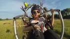 Тандемен полет с двуместен моторен парапланер  близо до София от клуб Вертикал Дименшън, снимка 4