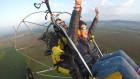 Тандемен полет с двуместен моторен парапланер  близо до София от клуб Вертикал Дименшън, снимка 2