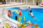 Нощувка на човек със закуска, обяд и вечеря + басейн в хотел Велиста, Вонеща вода