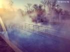 Нощувка на човек със закуска и вечеря + 1 релаксираща процедура по избор + горещ басейн в Хотел Царска баня, гр. Баня край Карлово