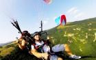 Тандемен полет с парапланер на лебедка край София или Сапарева баня + видеозаснемане от Полети и приключения, снимка 6