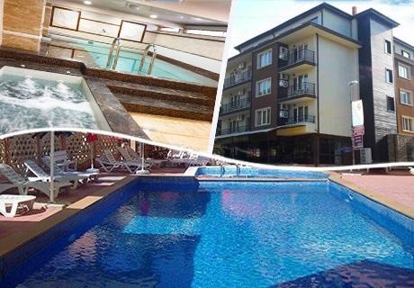 Нощувка на човек със закуска, обяд и вечеря + басейн в СПА хотел Даниела, Китен