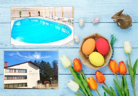 Великден във Вонеща вода!  2 или 3 нощувки на човек със закуски и вечери, едната празнична + топъл басейн в хотел Велиста