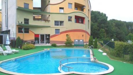 Нощувка за двама или четирима + външен басейн и джакузи с минерална вода в СПА Комплекс Детелина, Хисаря