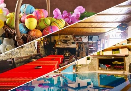 Великден в Чифлик! 2 или 3 нощувки на човек със закуски и вечери + топъл минерален басейн и сауна в хотел Мания