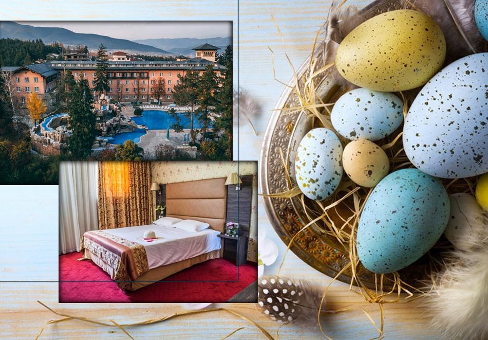 Великден във Велинград с Николина Чакърдъкова! 3 нощувки на човек със закуски и вечери + един празничен обяд, 2 басейна и СПА с минерална вода от хотел Двореца*****