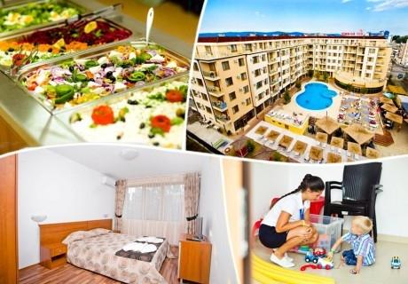 Лято 2020 в Слънчев Бряг! Нощувка или нощувка със закуска на човек + басейн в хотел Рио Гранде****. Дете до 6г. безплатно!