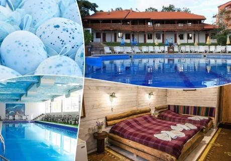 Великден в Хисаря! 4 нощувки на човек със закуски и вечери + минерален басейн и релакс зона от Еко стаи Манастира