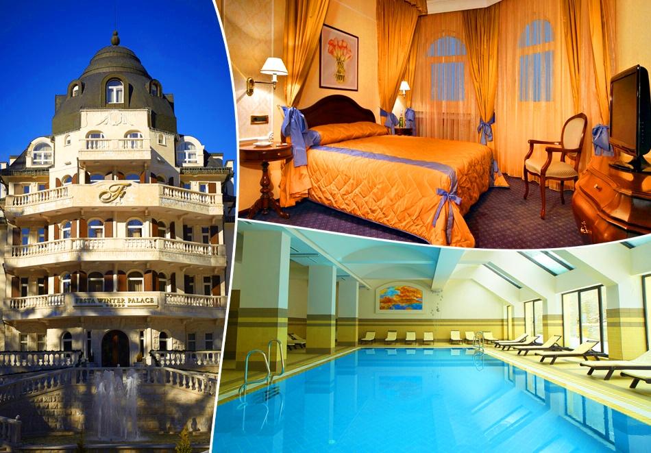Декември в Боровец! Нощувка на човек със закуска + басейн и релакс зона от хотел Феста Уинтър Палас 5*