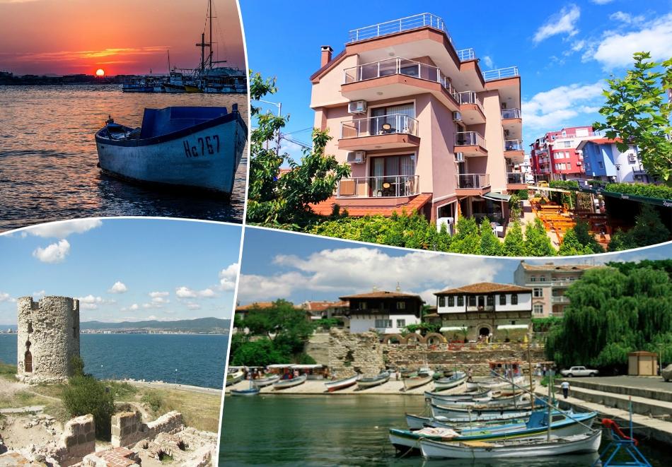 Лято 2020 на 30м. от плажа на ТОП ЦЕНИ! Нощувка  за двама, трима или четирима в хотел Карел, между Равда и Несебър