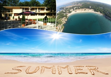 Ляло лято на море в Китен! Нощувка  на човек със закуска, обяд и вечеря в хотел Дъбака, на 50м. от Атлиман