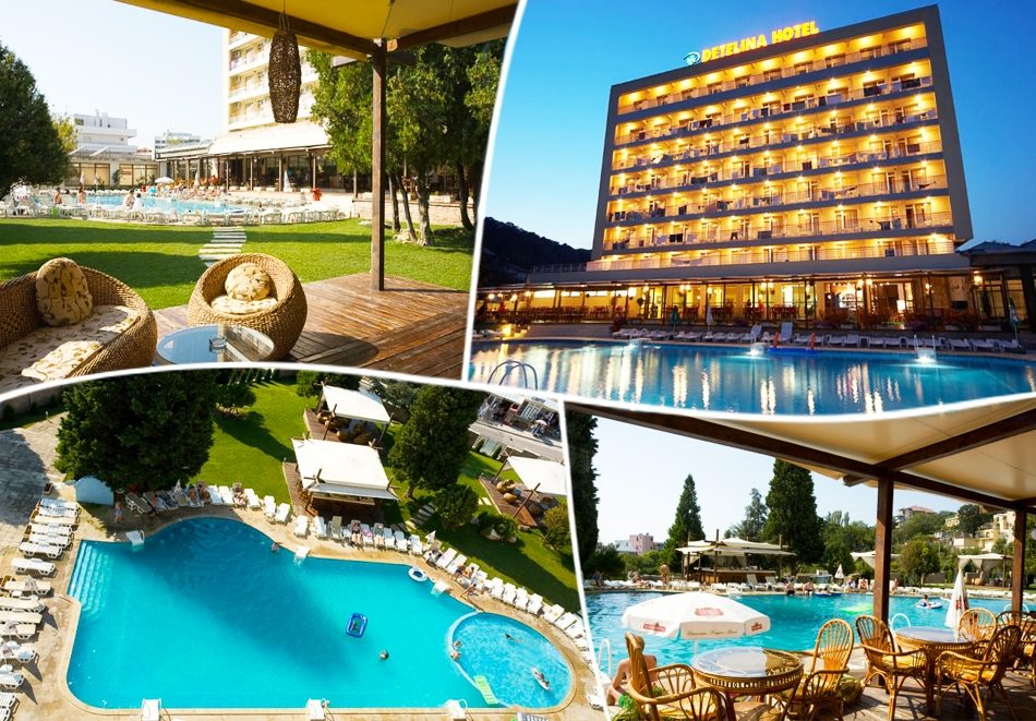 Нощувка на човек на база All inclusive + басейн само за 39 лв. в Хотел Детелина***, Златни Пясъци