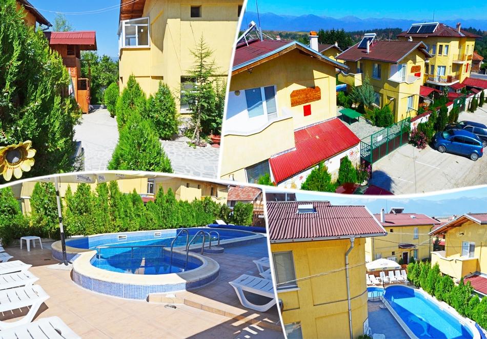 Горещ минерален басейн + нощувка на човек със закуска и вечеря в комплекс Елена , с.Баня до Банско