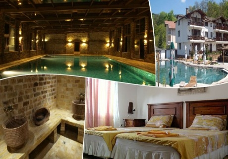 3 нощувки за двама със закуски и вечери + минерален басейн, сауна и парна баня в хотел Петрелийски, Огняново