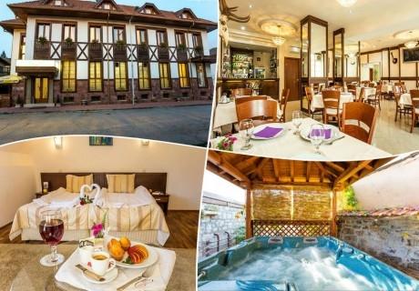 Нощувка на човек със закуска, обяд* и вечеря + сауна и джакузи в хотел Тетевен