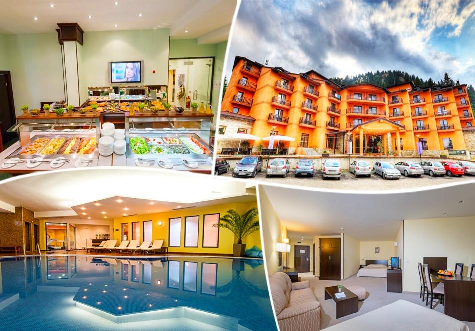 На ски в Пампорово. Нощувка на човек със закуска и вечеря + басейн в хотел Белвю Ски и СПА****