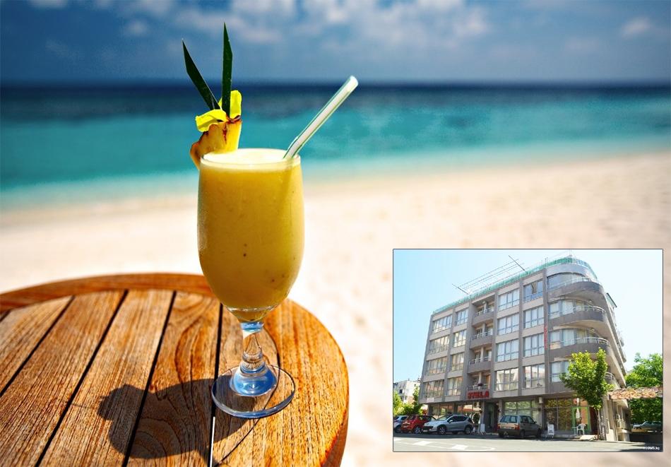 Ранни записвания за море в Несебър на 100 м. от плажа. Нощувка на човек, закуска, обяд и вечеря в Хотел Стела***. Дете до 12г. - БЕЗПЛАТНО!!!