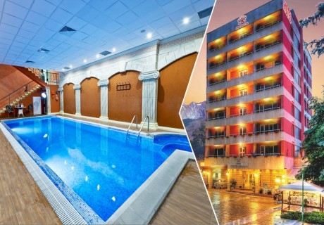 2 нощувки за ДВАМА със закуски и вечери + СПА и минерален басейн в хотел Свети Никола****, Сандански!