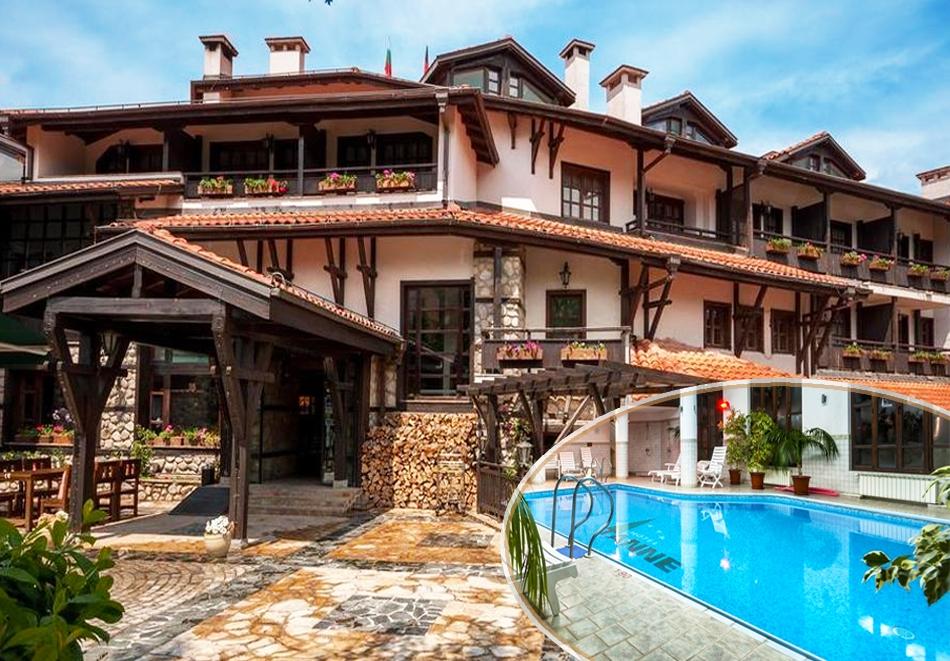 Нощувка на човек със закуска или закуска и вечеря + басейн и СПА в хотел Танне****, Банско