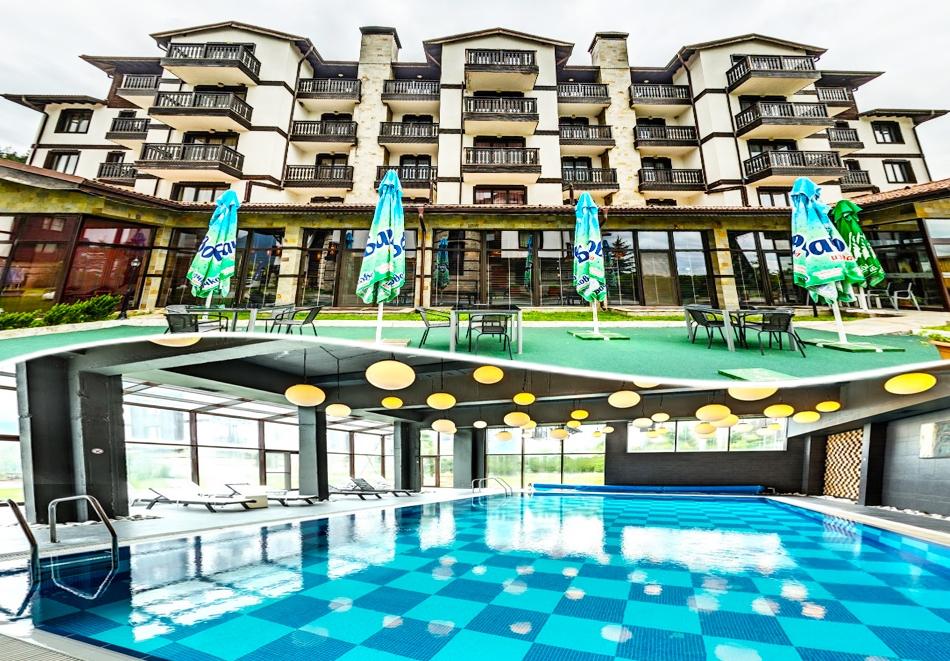 2 нощувки на човек на база All Inclusive Light  + басейн с МИНЕРАЛНА вода и релакс пакет в хотел 3 Планини, Разлог до Банско