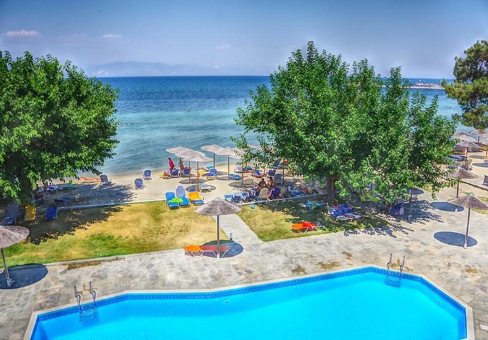 През цялото лято All Inclusive на о.Тасос в Sunrise Beach- Нощувка в супериорна стая на човек + басейн!