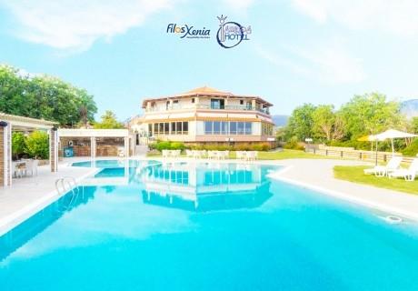 Септември на 50м. от плажа в Марония, Гърция! Нощувка на човек със закуска и вечеря с включени напитки + 2 басейна и анимация от хотел FilosXenia Ismaros***** ДЕЦА до 12г- БЕЗПЛАТНО!