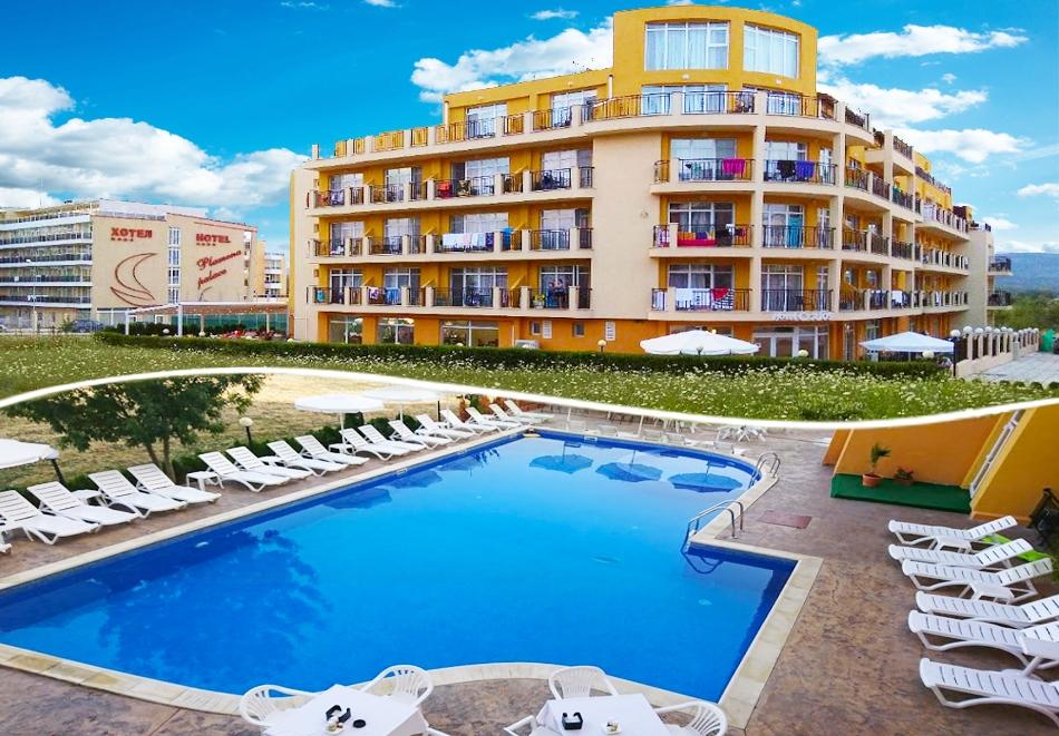 Нощувка на човек на база All inclusive + басейн в хотел Ориос***, Приморско