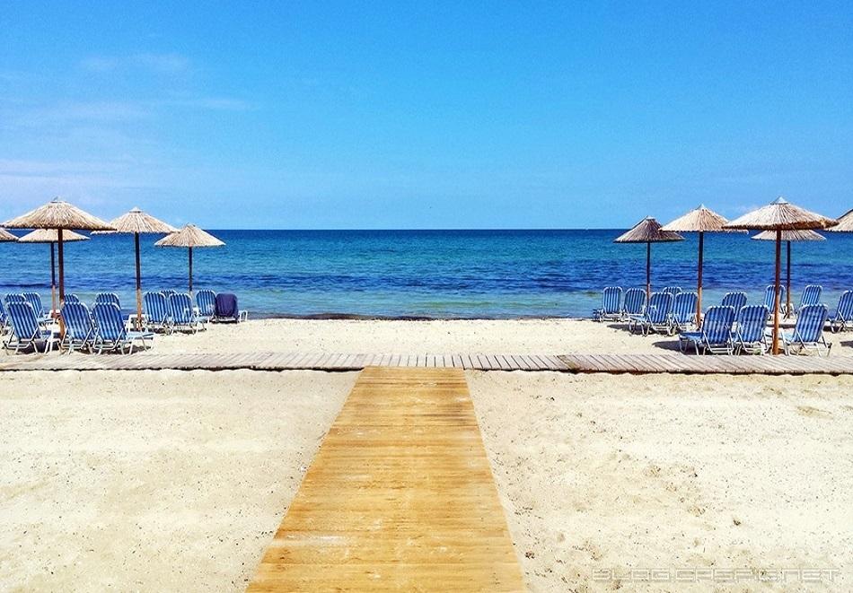 ТОП сезон на 50м от плажа в Скала Панагия, Тасос! Нощувка в студио за двама, трима,четирима или шестима в Amaryllis Studios