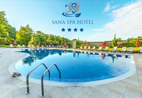 Специална оферта от хотел Сана СПА****, Хисаря! 5+ нощувки за ДВАМА със закуски + минерален басейн и СПА