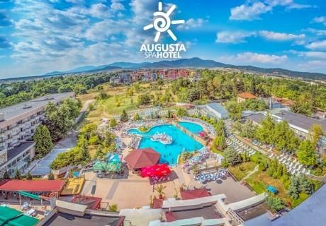 Нощувка за двама, трима или четирима със закуска + минерални басейни и СПА от хотел Аугуста, Хисаря!