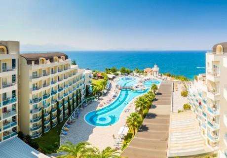Ранни записвания за лято 2020 в Турция! 7 нощувки на човек на база Ultra all Inclusive 24 часа + басейни в хотел Sea Light Resort*****, Кушадасъ