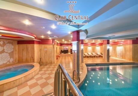 Делник в  Хисаря! Нощувка за двама със закуска + басейн с минерална вода и релакс център в хотел клуб Централ****