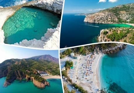 През септември на остров Тасос, Голдън Бийч, Гърция. Транспорт, 2 нощувки на човек със закуски от ТА Далла турс