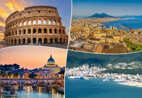Рим и Неапол през есента!  Транспорт, 4 нощувки със закуски на човек от ТА Далла Турс