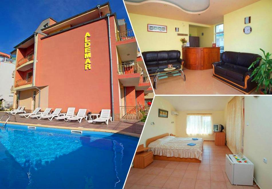 Нощувка или нощувка със закуска на човек + басейн в хотел Алдемар Италия, Равда