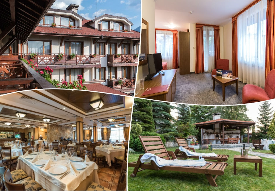 Зелено лято в Банско! Нощувка на човек със закуска, обяд и вечеря + басейн и сауна в хотел Евелина Палас**** Банско