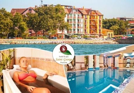 Море в Поморие! 3+ нощувки на човек със закуски + басейн и СПА в хотел Сейнт Джордж****