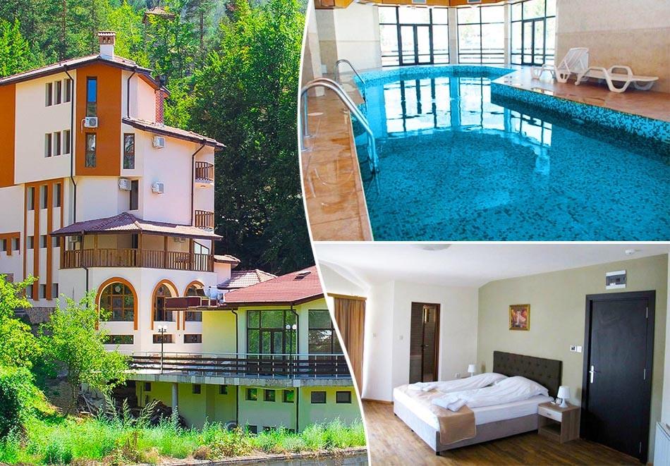 Нощувка за двама със закуска + минерален басейн и релакс пакет в къща за гости към хотел Родопа, с. Баните, край Смолян