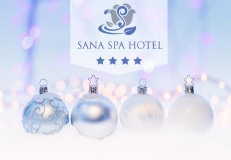 Коледа в хотел Сана Спа****, Хисаря! 3 нощувки за ДВАМА със закуски и вечери, едната празнична + минерален басейн и СПА пакет