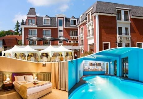 Нощувка на човек със закуска и вечеря + топъл басейн в хотел Шато Монтан, Троян.