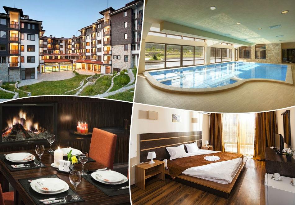 През октомври в Банско! Нощувка на човек, закуска и вечеря + басейн и релакс зона в луксозния хотел Сейнт Джордж Ски & Холидей****