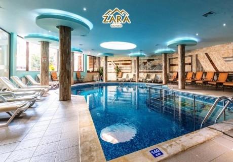 Нощувка на човек на база Аll inclusive + басейн и релакс пакет в комплекс ЗАРА****, Банско. Дете до 12 години - БЕЗПЛАТНО!