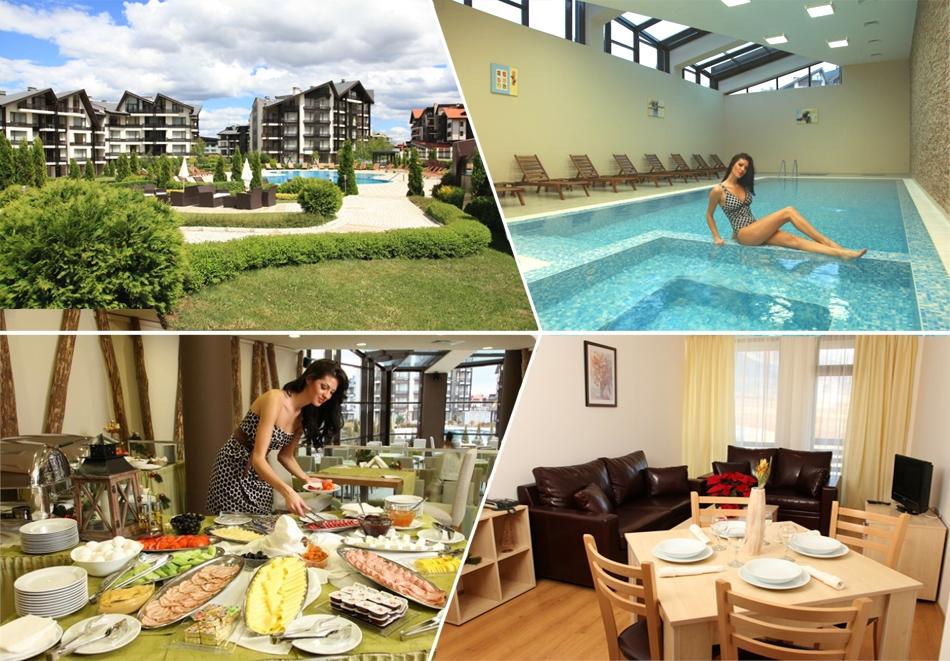 Почивка край Банско! 2, 3 или 5 нощувки на човек със закуски, обеди и вечери + басейн и релакс пакет в Аспен Резорт***