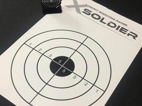 Стрелба по мишени на еърсофт стрелбище Xsoldier, Бургас