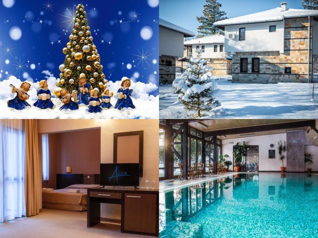 Коледа в Троянския Балкан! 3 или 4 нощувки, закуски и вечери , едната празнична с DJ за ДВАМА или ЧЕТИРИМА + басейн и СПА в комплекс Острова, Бели Осъм.